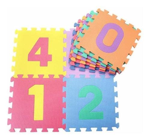 tapete foamy fomi letras y números set 50 piezas