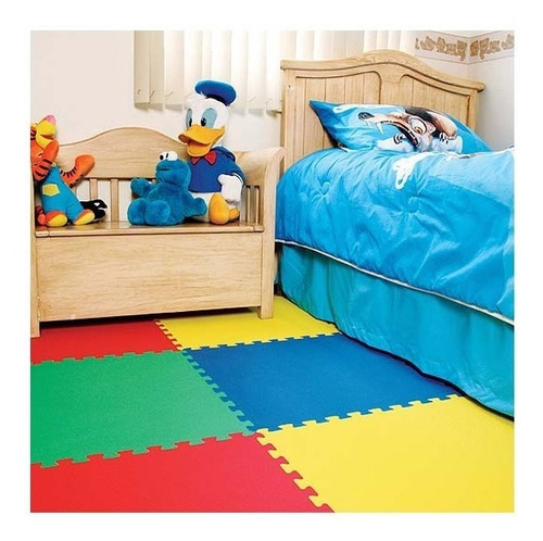 tapete foamy infantil  de doble lado varios colores