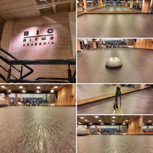 tapete galpão doca academia loja piso emborrachado acústico