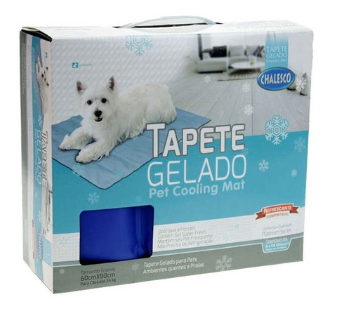 tapete gelado para cães pet cooling mat chalesco tamanho g