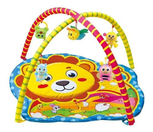tapete ginasio de atividades bebe infantil amigos da selva