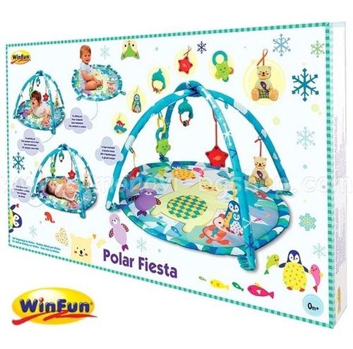 tapete ginasio de atividades bebe infantil festa polar winfu