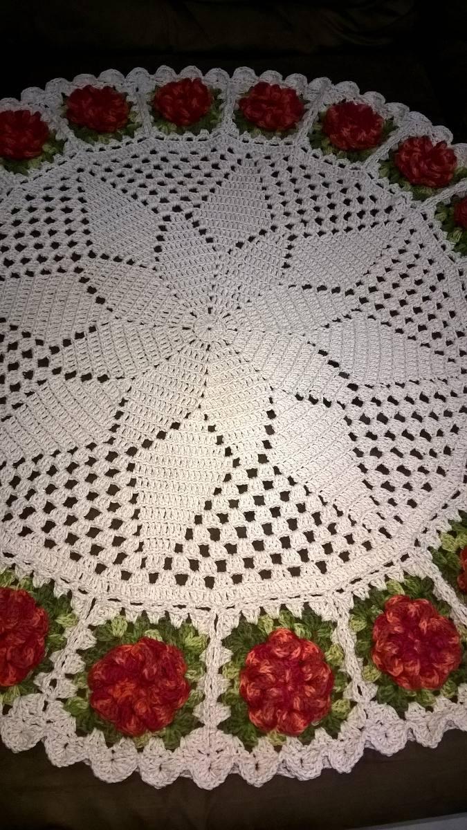 Tapete Grande Redondo Croche R 200 00 Em Mercado Livre -> Tapete Croche Grande
