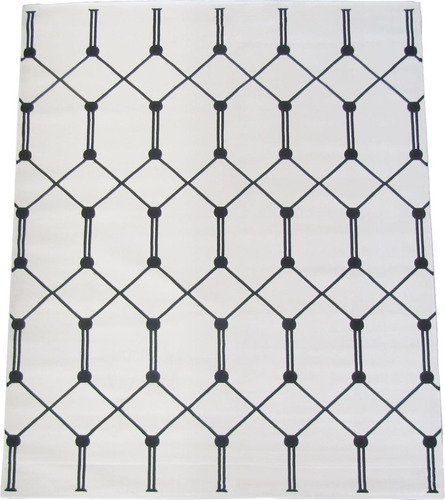 tapete grid geometrico preto branco 3x4m 1 milhão de pontos