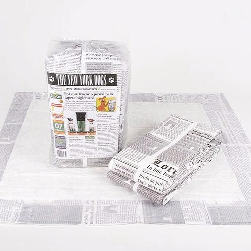 tapete higienico para caes e gatos c/70 uni - 80x60