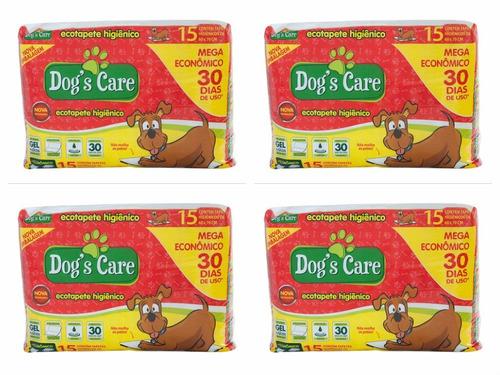 tapete higiênico dog's care mega para cães80x60 -60 unidades