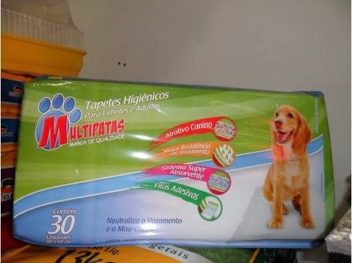 tapete higiênico - multipatas . 30 uni 80x80 100% absorção!!