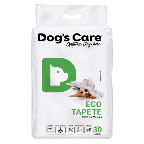 tapete higiênico para cães 80x60 - porte medio/60 unidades