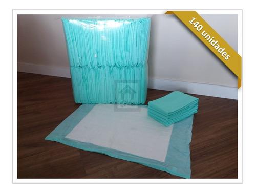tapete higiênico para cães c/ 140 unidades 80x60cm