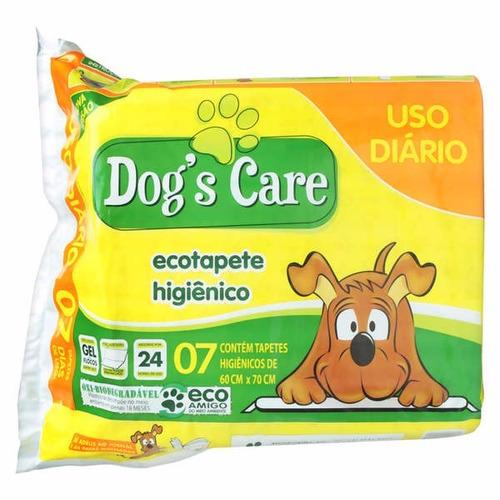 tapete higiênico para cães dogs care - 21 unidades - 60x80cm