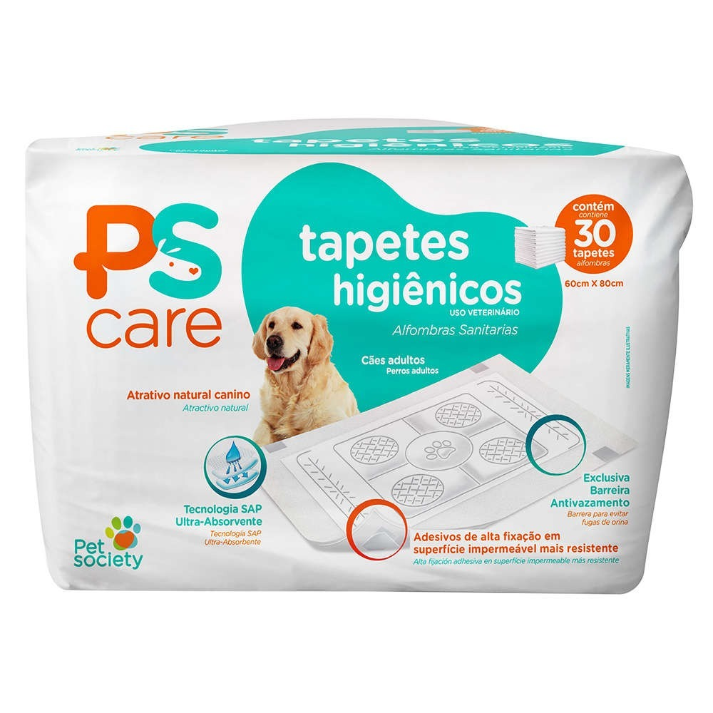 tapete higinico pet society ps care 30 unidades 80x60 D NQ NP 774018 MLB27497912476 062018 F - Tapete Ps