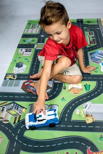 tapete ilustrativo pista p/ brincar de carrinho p 0,60x1,20m