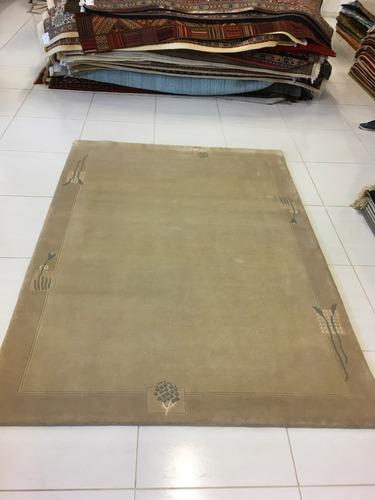 tapete indo nepal sari silk 240x173cm artesanal legitimo lã