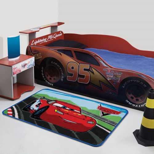 tapete infantil carros radical disney 70cm x 1,10m - jolitex