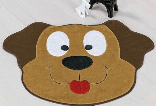 tapete infantil grande de pelúcia cachorro feliz - caramelo
