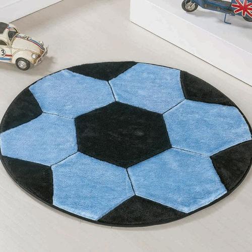 tapete infantil pelúcia decorativo antiderrapante bola futebol várias cores - original com garantia e nota fiscal
