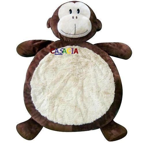 tapete infantil redondo macaco pelúcia animal beira cama