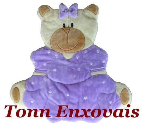 tapete infantil ursa luxo pelúcia antialérgico 1,20m x 1,00m
