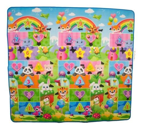 tapete juguete juego  saltar arcoíris selva numer niños bebe