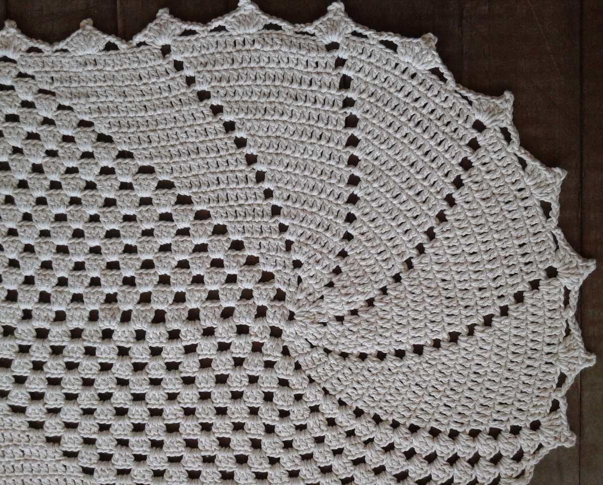 Tapete Kellway Barbante Croch Oval R 60 00 Em Mercado Livre -> Tapete De Croche Oval Simples Passo A Passo