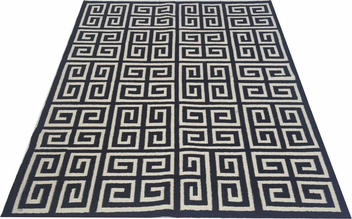 Tapete Kilin Indiano 3×2 5m Geometrico Desenho Grego 2 5x3m R  -> Tapetes Desenhos