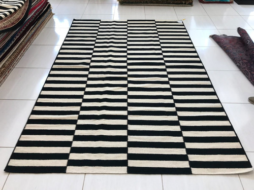 tapete kilin indiano 3x2m listras desencontradas 2x3m artesa