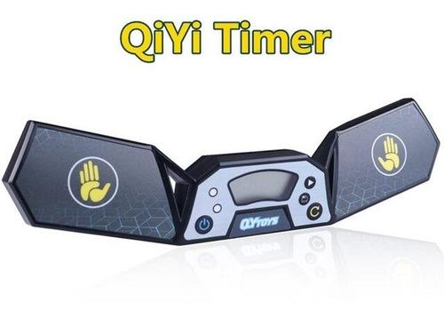 tapete largo qiyi para cubo mágico + cronômetro timer preto