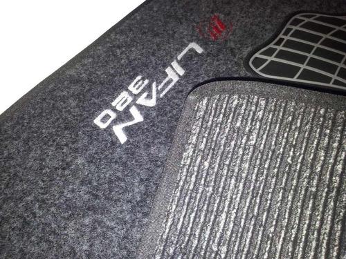 tapete lifan x60 320 620 carpete personalizado carro
