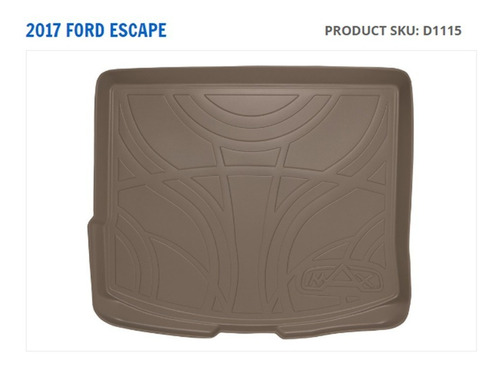 tapete maxtray cargo liner ford escape 2013 al 2017 beige