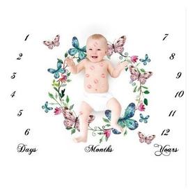 Tapete Mêsversário Para Bebês Borboleta E Asas