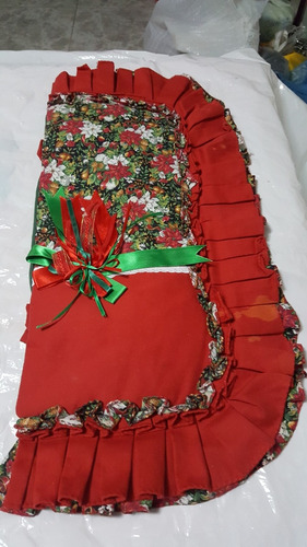 tapete navideño para tapa del tanque de poceta