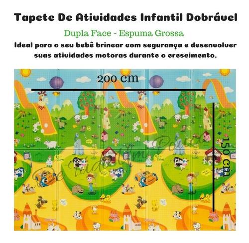tapete original conforto infantil bebe dupla face 2,00x1,50