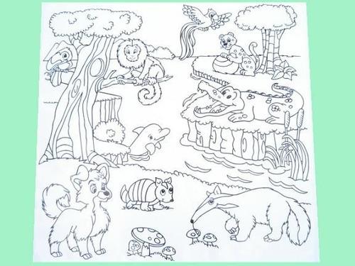 tapete p/ colorir - animais brasileiros - kits for kids