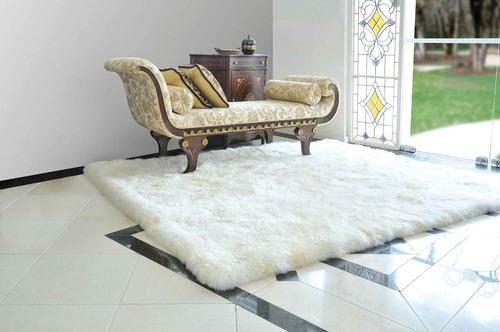tapete p/ sala ou quarto pele de carneiro original 1,20x0,60