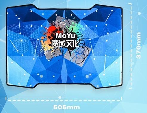 tapete pad moyu para cubo mágico mat azul cronômetro mat