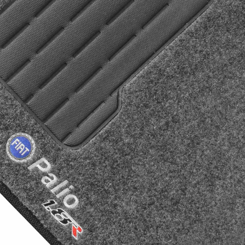 tapete palio 1.8 r 2006 a 2012 g3 g4 grafite carpete bordado