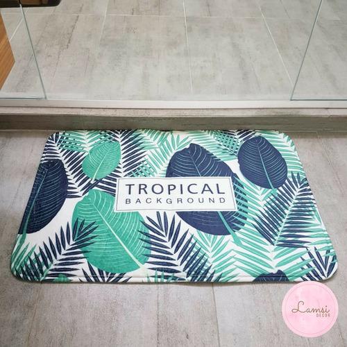 tapete para baño tropical