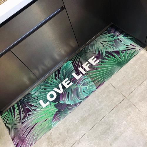 tapete para cocina baño pvc estampado hojas envío gratis