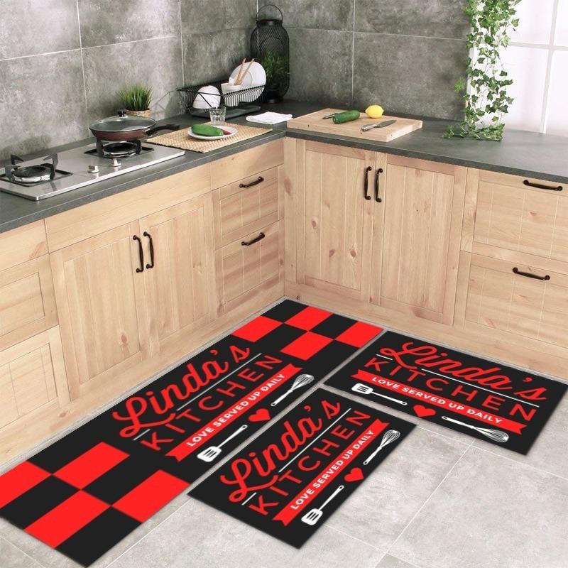 b5c3e3601 tapete para cozinha linda kitchen 3 peças com antiderrapante. Carregando  zoom.