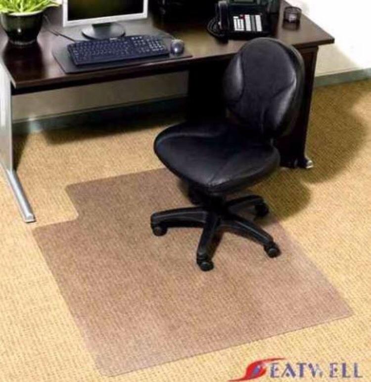 Tapete Para Escritório Protetor De Piso Em Pvc Chair Mat