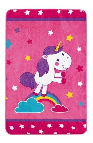 tapete para juego infantil con antiderrapante unicornio rosa