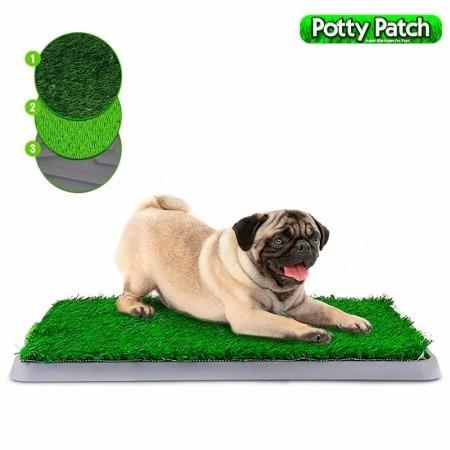 tapete para perro potty patch tv baño higienico