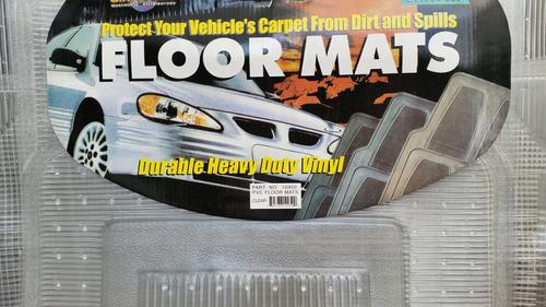 tapete para pickup dos piezas vinyl transparente