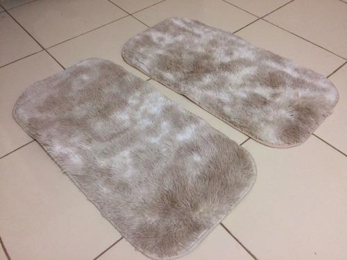 tapete para quarto felpudo para beira de cama 85cm x 50cm