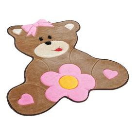 Tapete Para Quarto Infantil Pelúcia Ursa Baby 0,80 X 0,66cm