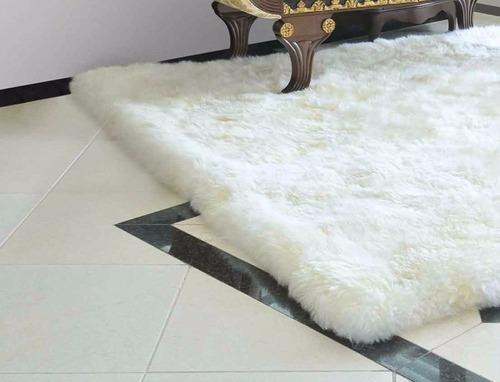 tapete para sala 100% pele de carneiro legítima 2,50m x 2,00