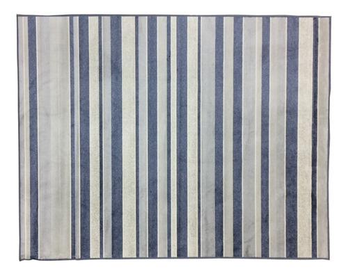 tapete para sala belga 2,00 x1.40 mts 107 azul listras lindo