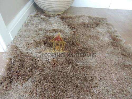 tapete pelo beira cama pelo 5cm 1.00x0.50cm caramelo ( par )
