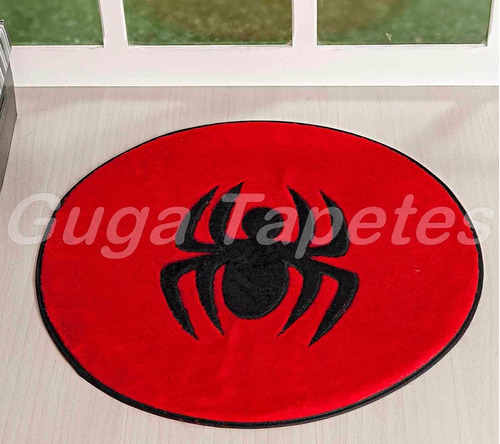 tapete pelucia aranha redondo 03 cores quarto menino fofo