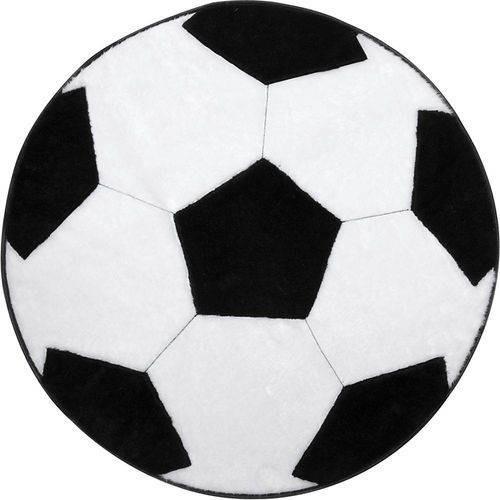 tapete pelúcia quarto infantil juvenil bola futebol 70cm